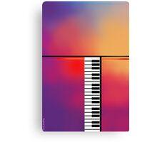 Piano Abstract Canvas Print