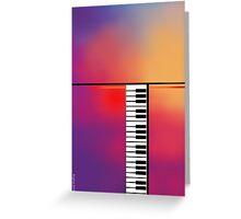 Piano Abstract Greeting Card