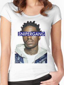 Kodak Black/ SNIPERGANG Women's Fitted Scoop T-Shirt