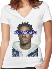 Kodak Black/ SNIPERGANG Women's Fitted V-Neck T-Shirt