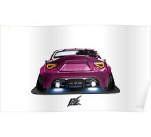 naquash design toyota gt86 with wide body purple rear end Poster