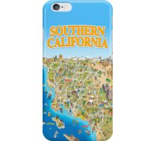 Cartoon Map of Southern California iPhone Case/Skin
