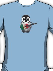Baby Penguin Playing Mexican Flag Guitar T-Shirt