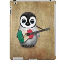 Baby Penguin Playing Mexican Flag Guitar iPad Case/Skin