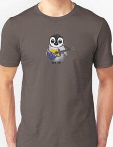 Baby Penguin Playing Bosnia-Herzegovina Flag Guitar Unisex T-Shirt