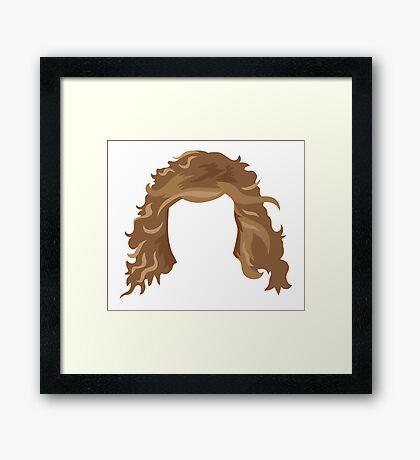 messy hair Framed Print