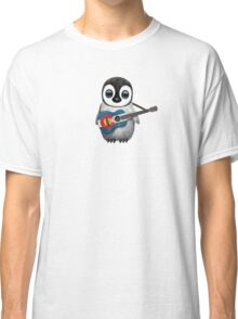 Baby Penguin Playing Colorado Flag Guitar Classic T-Shirt