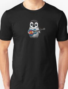 Baby Penguin Playing Colorado Flag Guitar Unisex T-Shirt