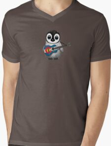 Baby Penguin Playing Colorado Flag Guitar Mens V-Neck T-Shirt