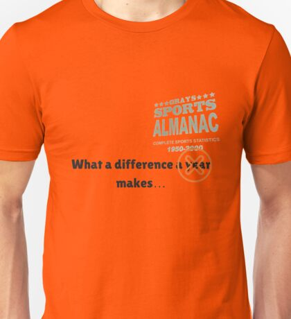 What a difference an almanac makes... Unisex T-Shirt