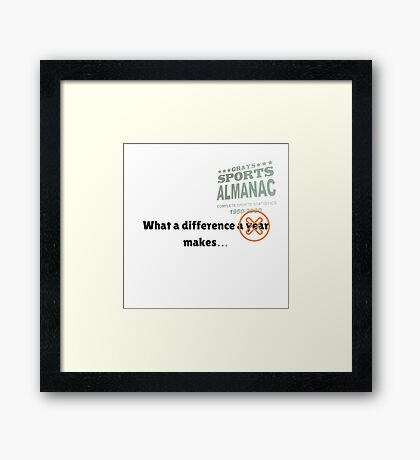 What a difference an almanac makes... Framed Print