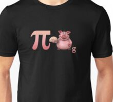 Pi day design with funny pig, nice gift for kids and adults Unisex T-Shirt
