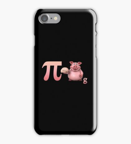Pi day design with funny pig, nice gift for kids and adults iPhone Case/Skin