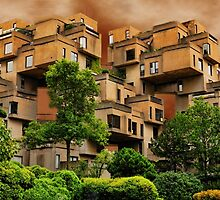 ๑۩۞۩๑HABITAT 67 MONTREAL ,CANADA,ARCHITECTURAL LANDMARK-VERSION TWO ๑۩۞۩๑ PICTURE ,PILLOW,TOTE BAG, by ✿✿ Bonita ✿✿ ђєℓℓσ