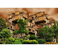 ๑۩۞۩๑HABITAT 67 MONTREAL ,CANADA,ARCHITECTURAL LANDMARK-VERSION TWO ๑۩۞۩๑ PICTURE ,PILLOW,TOTE BAG, Photographic Print