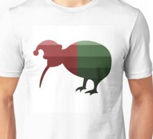 Santa Kiwi in Christmas Ombre Unisex T-Shirt