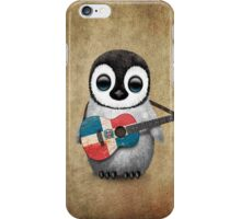 Baby Penguin Playing Dominican Republic Flag Guitar iPhone Case/Skin