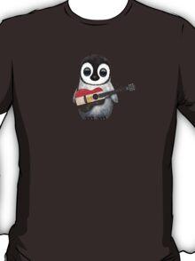 Baby Penguin Playing Egyptian Flag Guitar T-Shirt
