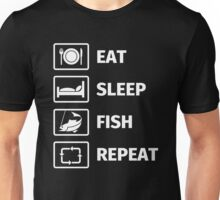 Eat, Sleep, Fish, Repeat Unisex T-Shirt