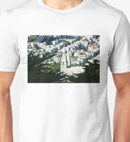 San Francisco Saints Peter and Paul Church Vista  Unisex T-Shirt