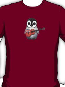 Baby Penguin Playing Bermuda Flag Guitar T-Shirt