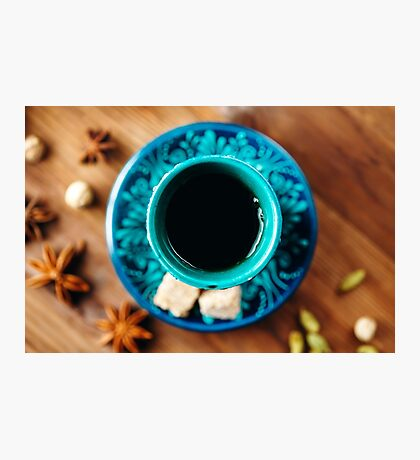 Hot Drink with Different Spices in Authentic Turkish Cups  Photographic Print