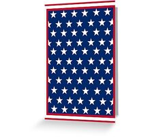 American Flag Inspired Stars and Stripes Greeting Card