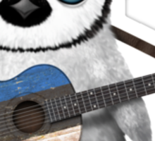 Baby Penguin Playing Estonian Flag Guitar Sticker