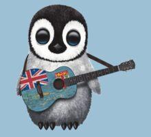 Baby Penguin Playing Fiji Flag Guitar Kids Clothes