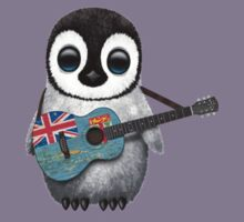 Baby Penguin Playing Fiji Flag Guitar Kids Clothes