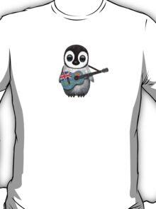 Baby Penguin Playing Fiji Flag Guitar T-Shirt