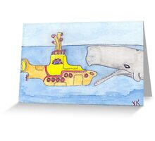 yellow submarine in Gefahr Greeting Card
