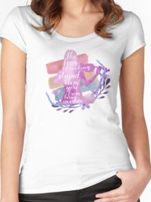 america - fear of looking stupid Women's Fitted Scoop T-Shirt