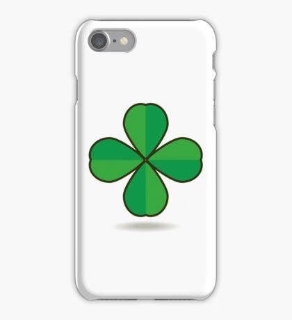 Quatrefoil clover for good luck icon iPhone Case/Skin