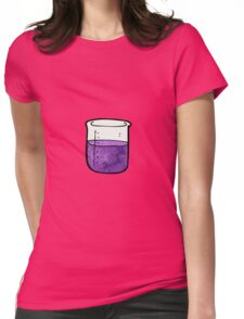 science beaker cartoon Womens Fitted T-Shirt