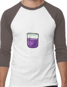 science beaker cartoon Men's Baseball ¾ T-Shirt