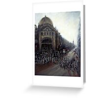 Afternoon rush,Flinders Street, Melbourne Greeting Card