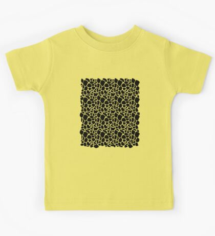 Abstract Safari - Geometric Black and White Pattern Kids Tee