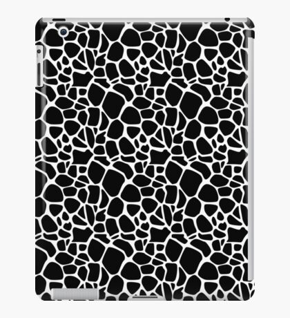 Abstract Safari - Geometric Black and White Pattern iPad Case/Skin