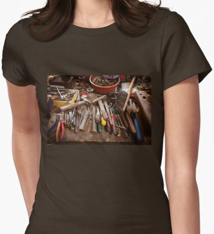 Toolbox in old garage - retro style with vignette Womens Fitted T-Shirt