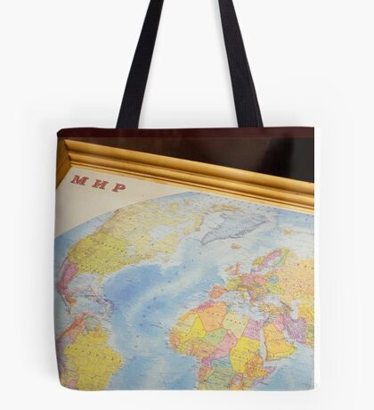 Wanderlustful Russian Vintage Map Tote Bag