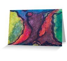 Fire Breathing Abstraction Greeting Card