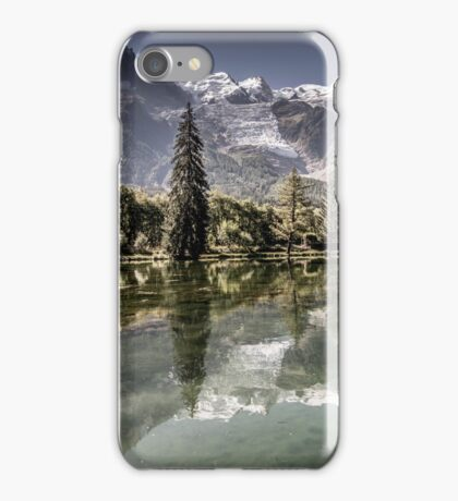 Landscape in Mont Blanc iPhone Case/Skin