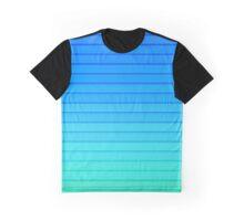 Blue Stripes Graphic T-Shirt