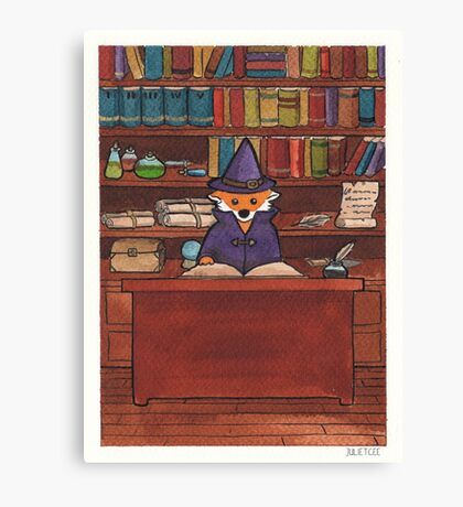 James the Wizard Fox Canvas Print