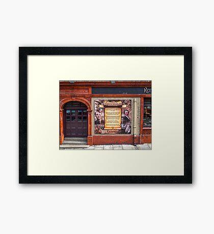 Window Mural Framed Print