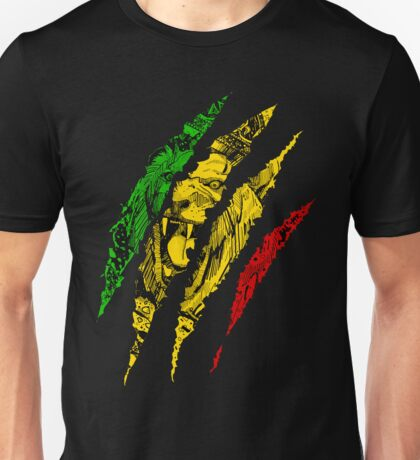 Warrior Lion of Judah King Rasta Reggae Jamaica Roots Unisex T-Shirt