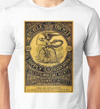 HUMBER BICYCLES; Vintage Advertising Print Unisex T-Shirt