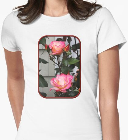 Roses on a Trellis Womens Fitted T-Shirt