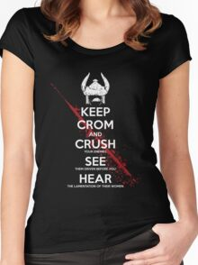 KEEP CROM Women's Fitted Scoop T-Shirt